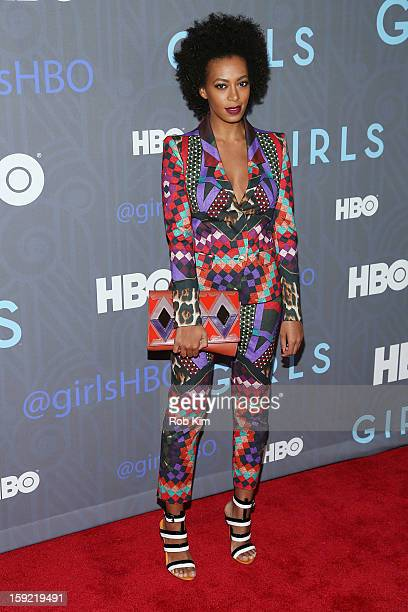 Solange Knowles attends the HBO 'Girls' season 2 premiere at the NYU Skirball Center on January 9 2013 in New York City