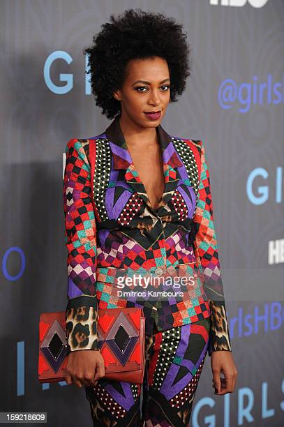Solange Knowles attends the HBO premiere of 'Girls' Season 2 at the NYU Skirball Center on January 9 2013 in New York City