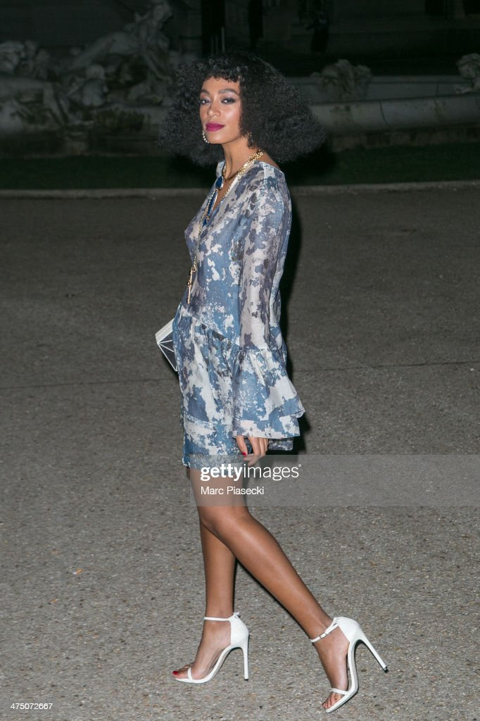 Solange Knowles attends the 'H&M Studio AW 2014' as part of the RTW Paris Fashion Week on February 26, 2014 in Paris, France.