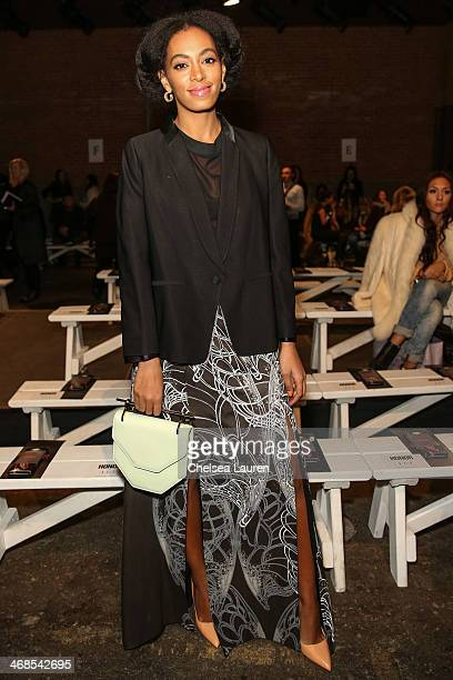 Solange Knowles attends the Honor fashion show during MercedesBenz Fashion Week Fall 2014 at Eyebeam on February 10 2014 in New York City