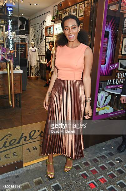 Solange Knowles attends the Kiehl's Pioneers By Nature Party at the Kiehl's Regent Street Store on July 9 2015 in London England