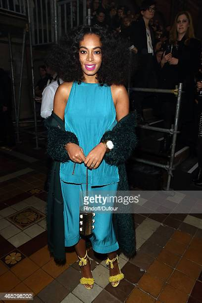 Solange Knowles attends the Lanvin show as part of the Paris Fashion Week Womenswear Fall/Winter 2015/2016 on March 5 2015 in Paris France