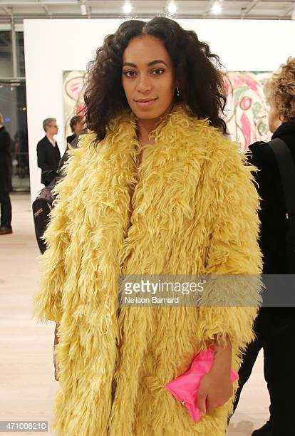 Solange Knowles attends the Max Mara celebration of the opening of The Whitney Museum Of American Art at its new location on April 24 2015 in New...