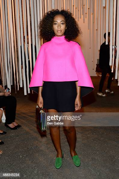 Solange Knowles attends the Milly By Michelle Smith Fashion Show during Spring 2016 New York Fashion Week at Art Beam on September 15 2015 in New...