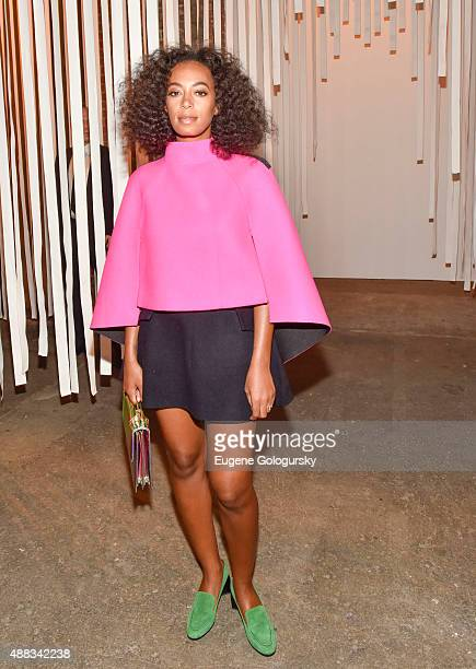 Solange Knowles attends the Milly during Spring 2016 New York Fashion Week at ArtBeam on September 15 2015 in New York City