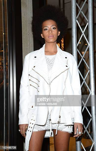 Solange Knowles attends the new Just Cavalli boutique opening party as part of Milan Womenswear Fashion Week on September 21 2012 in Milan Italy