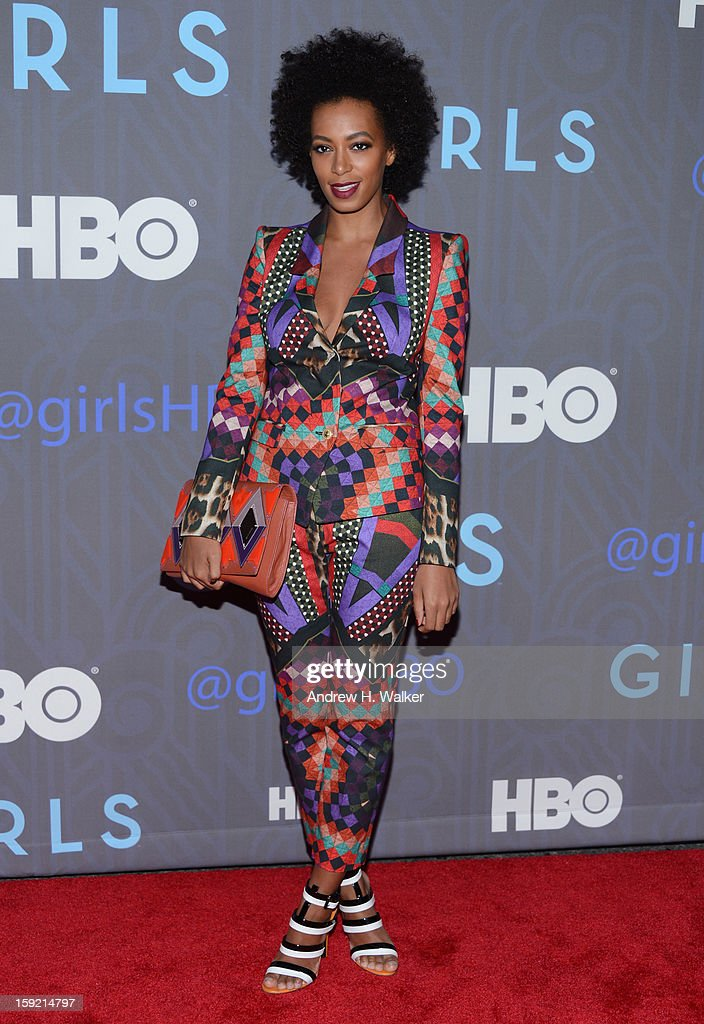 <a gi-track='captionPersonalityLinkClicked' href=/galleries/search?phrase=Solange+Knowles&family=editorial&specificpeople=221489 ng-click='$event.stopPropagation()'>Solange Knowles</a> attends the Premiere Of 'Girls' Season 2 Hosted By HBO at NYU Skirball Center on January 9, 2013 in New York City.