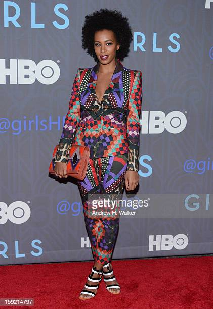 Solange Knowles attends the Premiere Of 'Girls' Season 2 Hosted By HBO at NYU Skirball Center on January 9 2013 in New York City