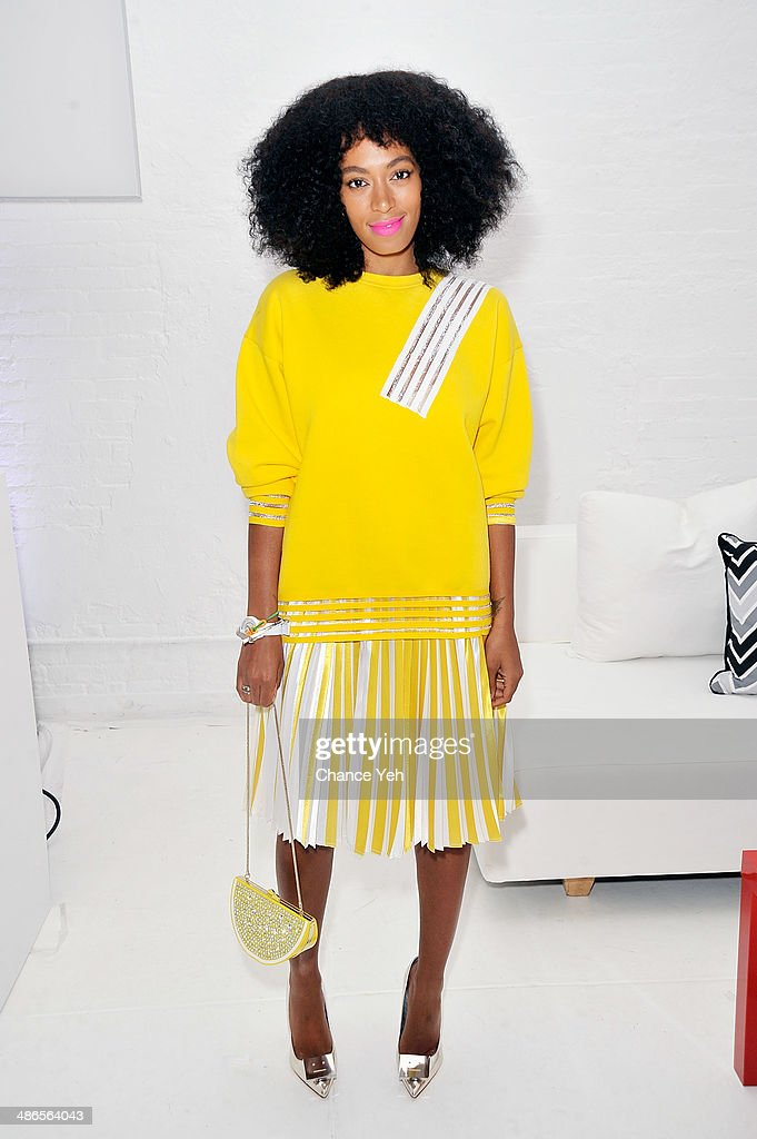 Solange Knowles attends the QQ Launch Event at Open House Gallery on April 24 2014 in New York City