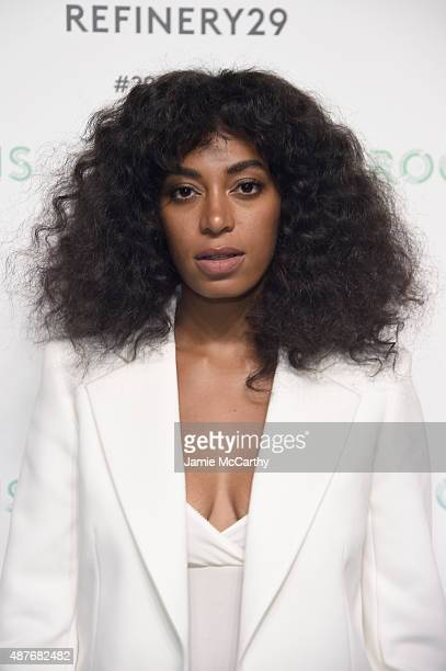 Solange Knowles attends the Refinery29 presentation of 29Rooms a celebration of style and culture during NYFW 2015 on September 10 2015 in Brooklyn...
