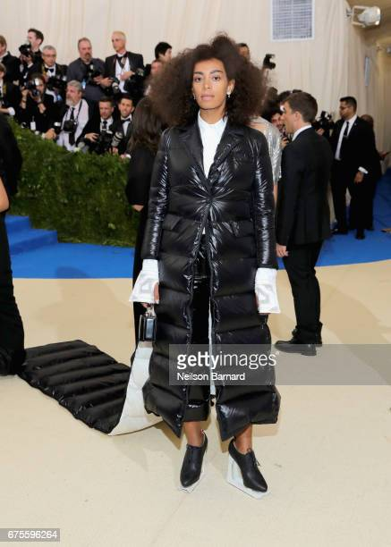 Solange Knowles attends the 'Rei Kawakubo/Comme des Garcons Art Of The InBetween' Costume Institute Gala at Metropolitan Museum of Art on May 1 2017...