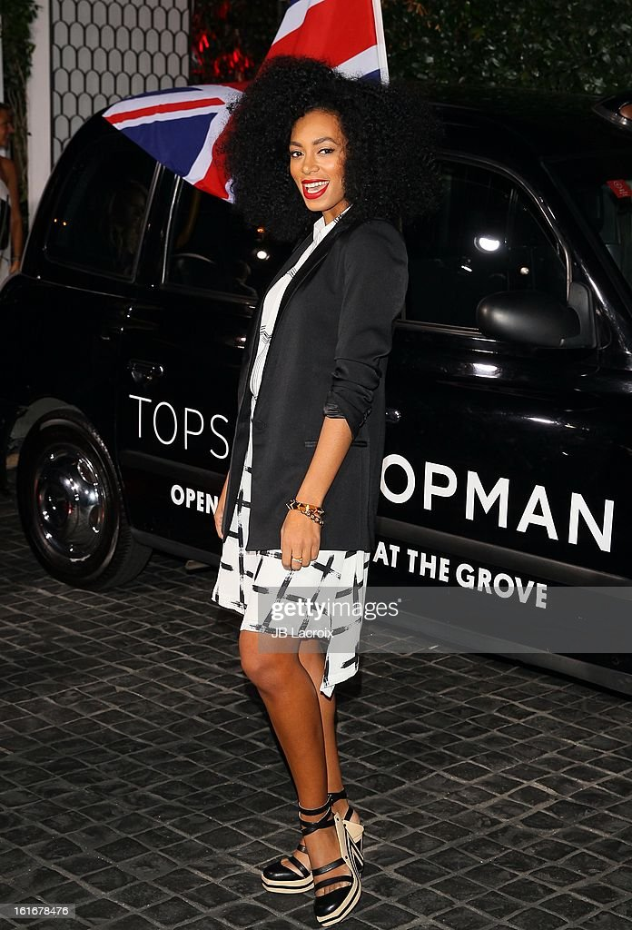 <a gi-track='captionPersonalityLinkClicked' href=/galleries/search?phrase=Solange+Knowles&family=editorial&specificpeople=221489 ng-click='$event.stopPropagation()'>Solange Knowles</a> attends the Topshop Topman LA Opening Party held at Cecconi's Restaurant on February 13, 2013 in Los Angeles, California.