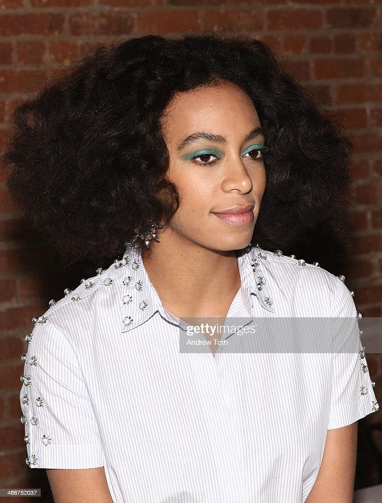 <a gi-track='captionPersonalityLinkClicked' href=/galleries/search?phrase=Solange+Knowles&family=editorial&specificpeople=221489 ng-click='$event.stopPropagation()'>Solange Knowles</a> attends the Wes Gordon fashion show during Mercedes-Benz Fashion Week Fall 2014 on February 11, 2014 in New York City.