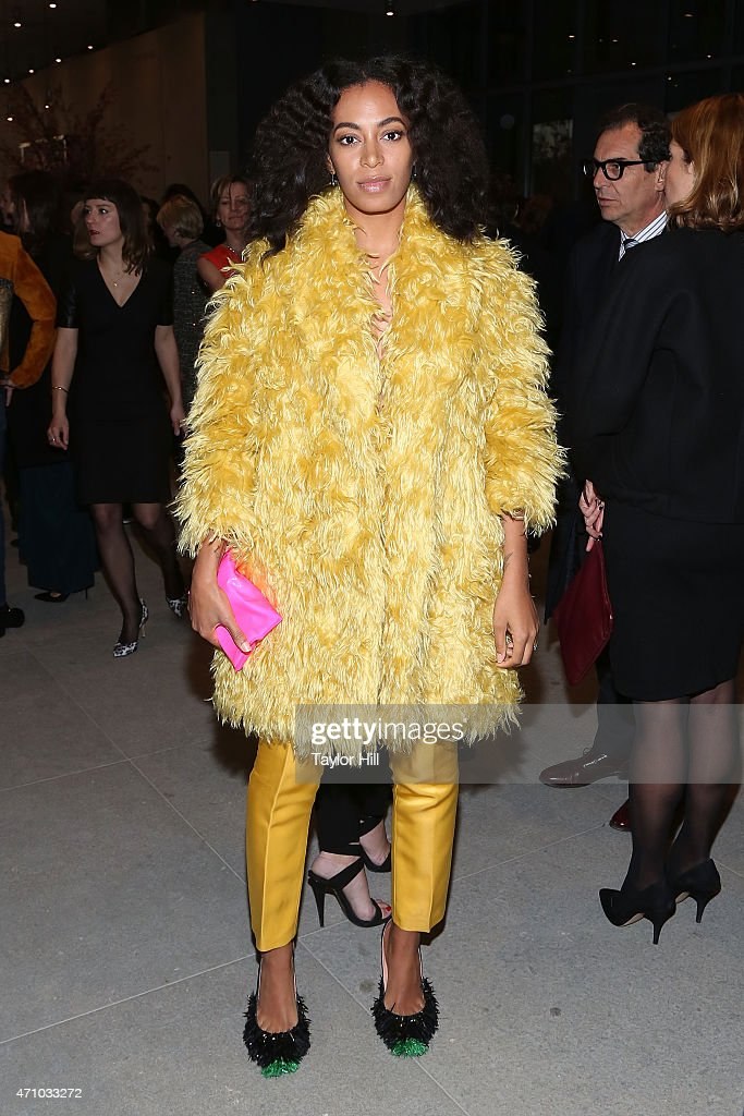 Solange Knowles attends The Whitney Museum of American Art's opening dinner party hosted by MaxMara at the museum's new location on April 24 2015 in...