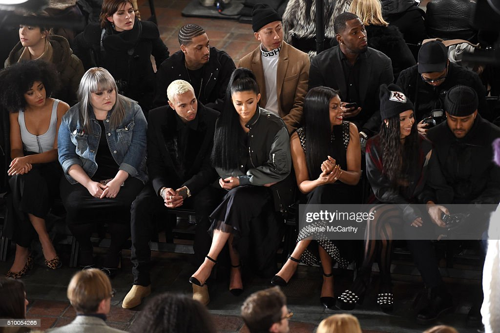 <a gi-track='captionPersonalityLinkClicked' href=/galleries/search?phrase=Solange+Knowles&family=editorial&specificpeople=221489 ng-click='$event.stopPropagation()'>Solange Knowles</a>, <a gi-track='captionPersonalityLinkClicked' href=/galleries/search?phrase=Beth+Ditto&family=editorial&specificpeople=680282 ng-click='$event.stopPropagation()'>Beth Ditto</a>, <a gi-track='captionPersonalityLinkClicked' href=/galleries/search?phrase=Tyga&family=editorial&specificpeople=4489457 ng-click='$event.stopPropagation()'>Tyga</a>, <a gi-track='captionPersonalityLinkClicked' href=/galleries/search?phrase=Kylie+Jenner&family=editorial&specificpeople=870409 ng-click='$event.stopPropagation()'>Kylie Jenner</a> and <a gi-track='captionPersonalityLinkClicked' href=/galleries/search?phrase=Taraji+P.+Henson&family=editorial&specificpeople=208823 ng-click='$event.stopPropagation()'>Taraji P. Henson</a> attend the Alexander Wang Fall 2016 fashion show during New York Fashion Week at St. Bartholomew's Church on February 13, 2016 in New York City.