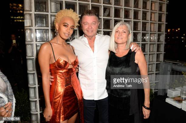 Solange Knowles Billy Ghitis and Anda Andrei attend The 2017 Surface Travel Awards at Hotel Americano on October 4 2017 in New York City