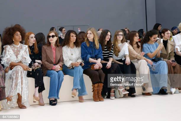 Solange Knowles Emma Roberts Isabelle Huppert Houda Benyamina Clemence Poesy guest Noemie Schmidt Ana Girardot Oulaya Amamra and Aymeline Valade...