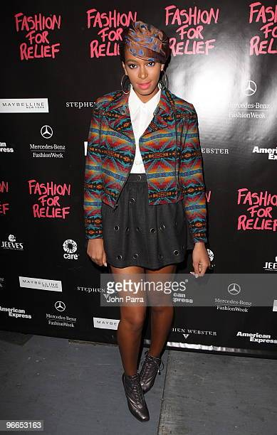Solange Knowles is seen around Bryant Park during MercedesBenz Fashion Week Fall 2010 on February 12 2010 in New York City