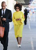 Solange Knowles is seen at LAX on January 23 2015 in Los Angeles California