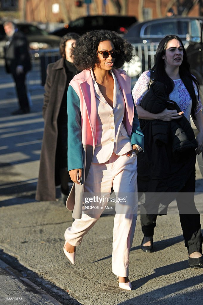 <a gi-track='captionPersonalityLinkClicked' href=/galleries/search?phrase=Solange+Knowles&family=editorial&specificpeople=221489 ng-click='$event.stopPropagation()'>Solange Knowles</a> is seen on February 11, 2014 in New York City.