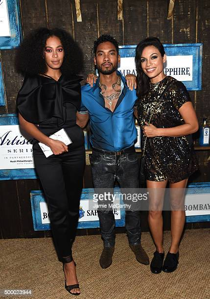 Solange Knowles Miguel and Rosario Dawson attend The 6th Annual Bombay Sapphire Artisan Series Grand Finale Cohosted By Russell Simmons And Rosario...