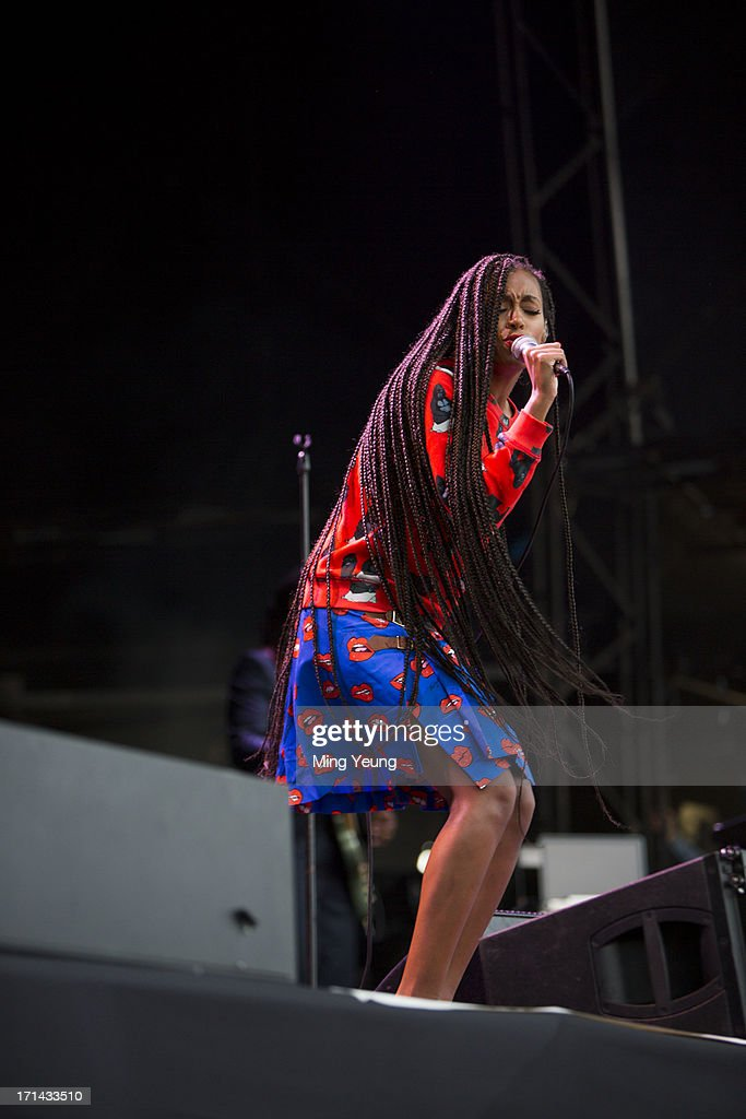 Solange Knowles performs at The Night and Day Festival Hatfield House on June 23, 2013 in Hatfield, England.