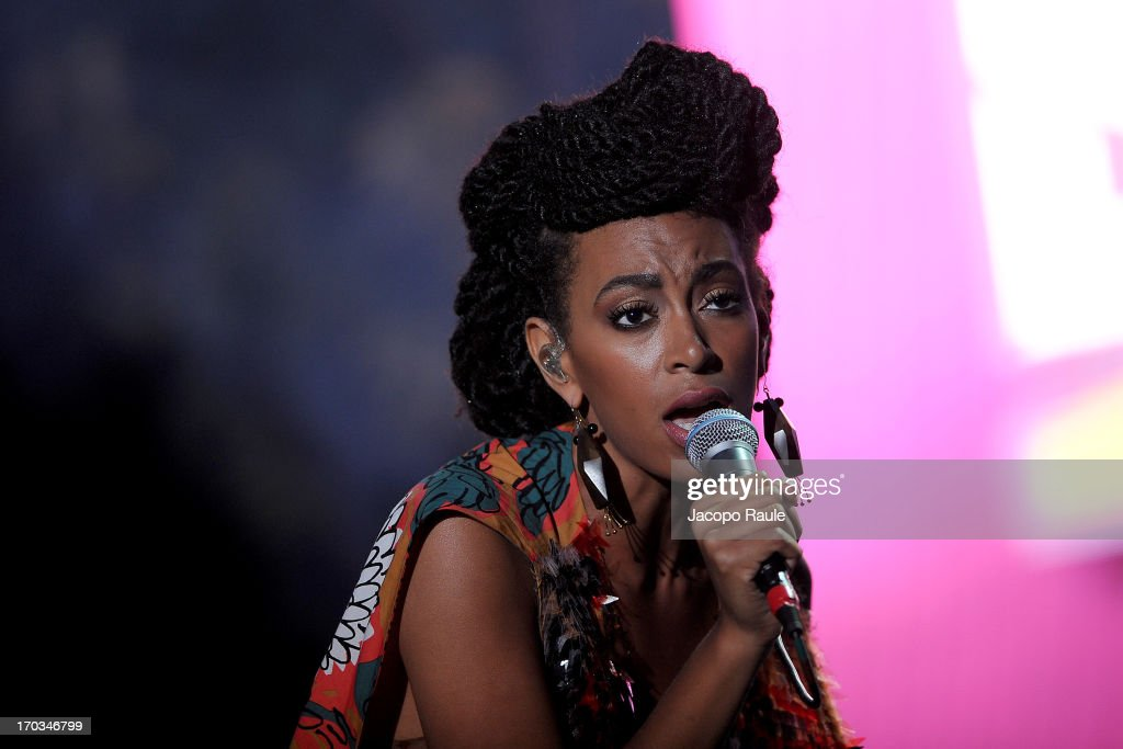 Solange Knowles performs during Glamour Live Show on June 11, 2013 in Milan, Italy.