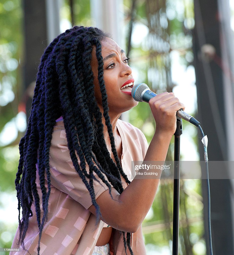 Solange Knowles performs during the 2013 Bonnaroo Music & Arts Festival on June 15, 2013 in Manchester, Tennessee.