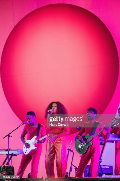 Solange Knowles performs on day 3 of the Glastonbury Festival 2017 at Worthy Farm Pilton on June 24 2017 in Glastonbury England