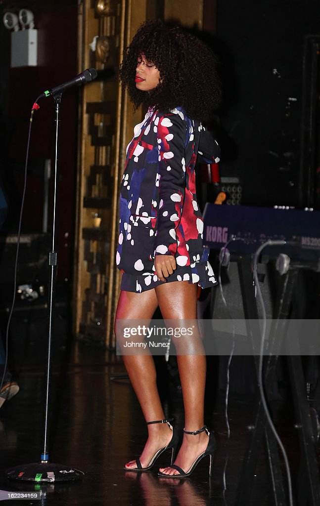 Solange Knowles performs on February 20, 2013 in New York, United States.