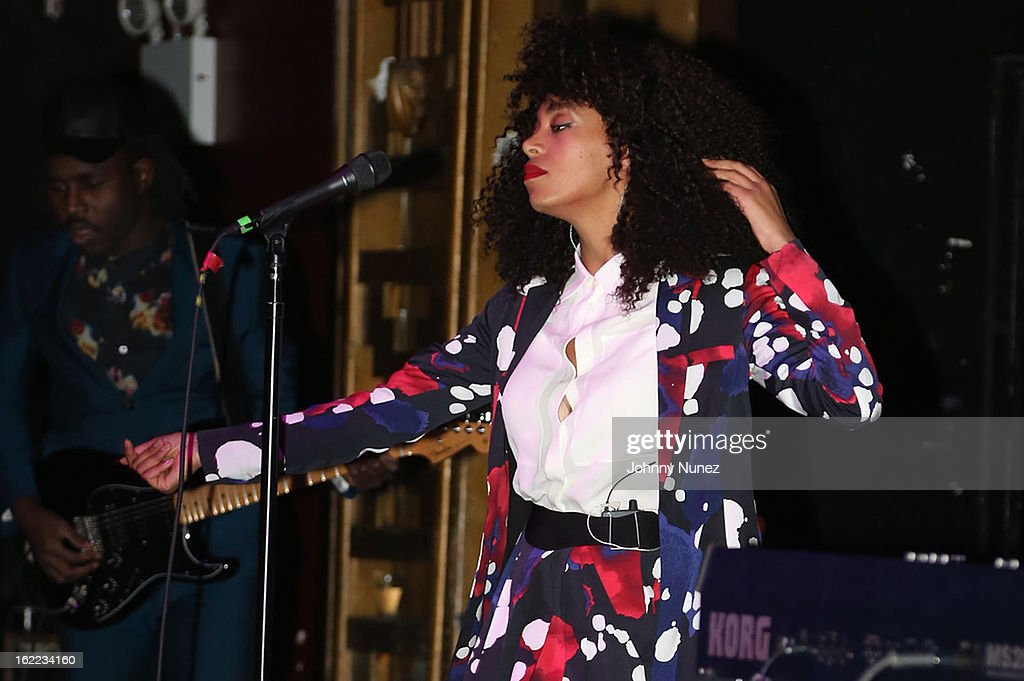 <a gi-track='captionPersonalityLinkClicked' href=/galleries/search?phrase=Solange+Knowles&family=editorial&specificpeople=221489 ng-click='$event.stopPropagation()'>Solange Knowles</a> performs on February 20, 2013 in New York, United States.