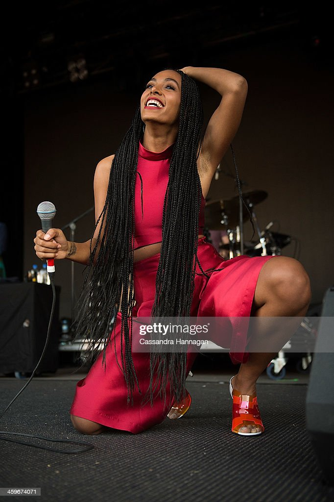 Solange Knowles performs on stage during Falls Festival on December 29, 2013 in Lorne, Australia.