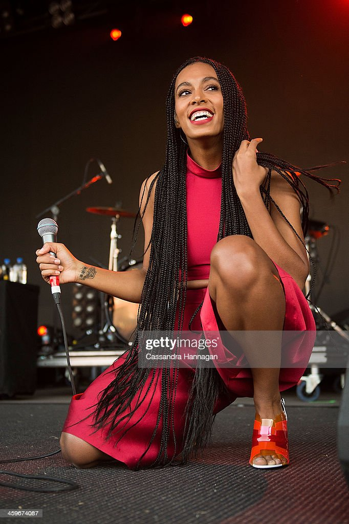 Solange Knowles performs on stage during Falls Festival on December 29 2013 in Lorne Australia