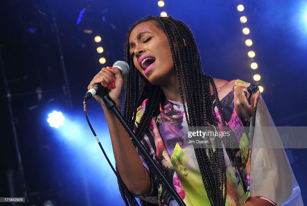 Solange Knowles performs on the Park stage during day 2 of the 2013 Glastonbury Festival at Worthy Farm on June 28, 2013 in Glastonbury, England.