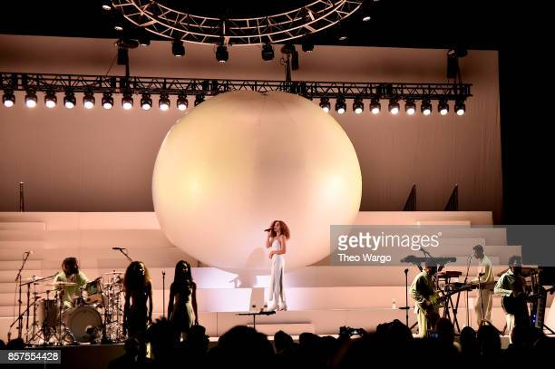 Solange Knowles performs onstage during Orion's Rise A Special Performance with Solange and The Sun Ra Arkestra at Radio City Music Hall on October 3...