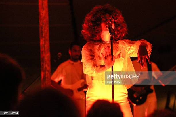 Solange performs at the Christian Dior Cruise 2018 Runway Show at the Upper Las Virgenes Canyon Open Space Preserve on May 11 2017 in Santa Monica...