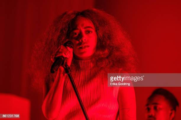 Solange performs during Austin City Limits Festival at Zilker Park on October 13 2017 in Austin Texas