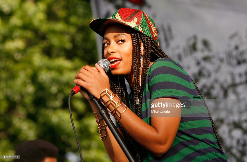 Solange performs during the 2013 Northside Festival at McCarren Park on June 16, 2013 in the Brooklyn borough of New York City.
