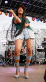 Solange performs during the 2013 Northside Festival at McCarren Park on June 16 2013 in the Brooklyn borough of New York City