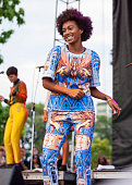 Solange performs during the 2013 Pitchfork Music Festival at Union Park on July 20 2013 in Chicago Illinois
