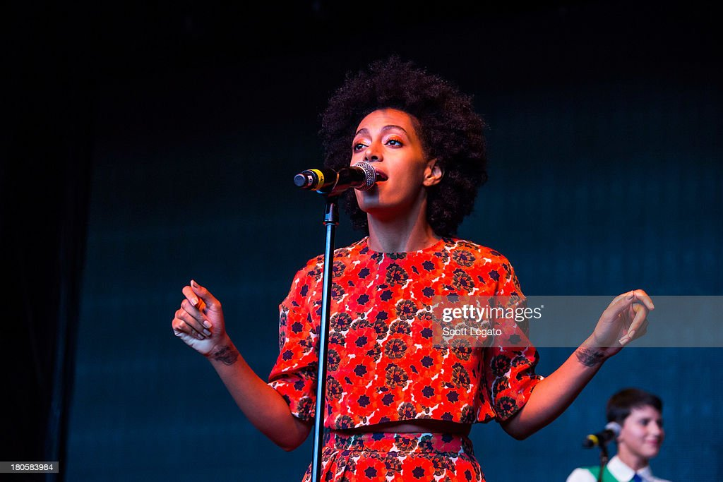 Solange performs during the St Jerome's Laneway Festival at Meadow Brook Music Festival on September 14, 2013 in Rochester, Michigan.