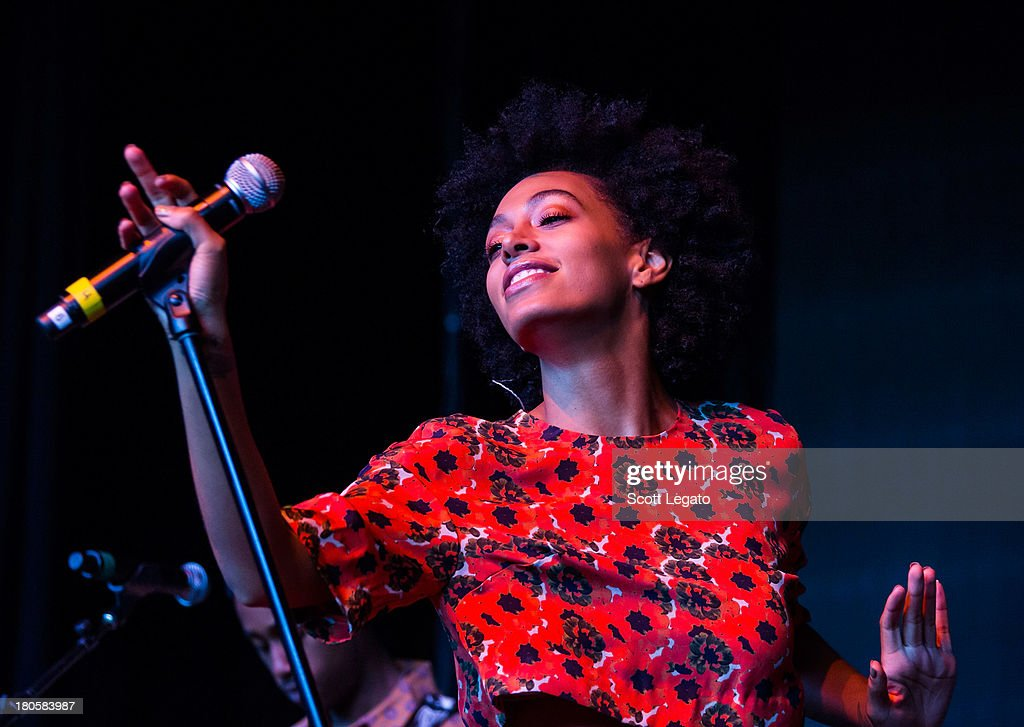 Solange performs during the St Jerome's Laneway Festival at Meadow Brook Music Festival on September 14 2013 in Rochester Michigan
