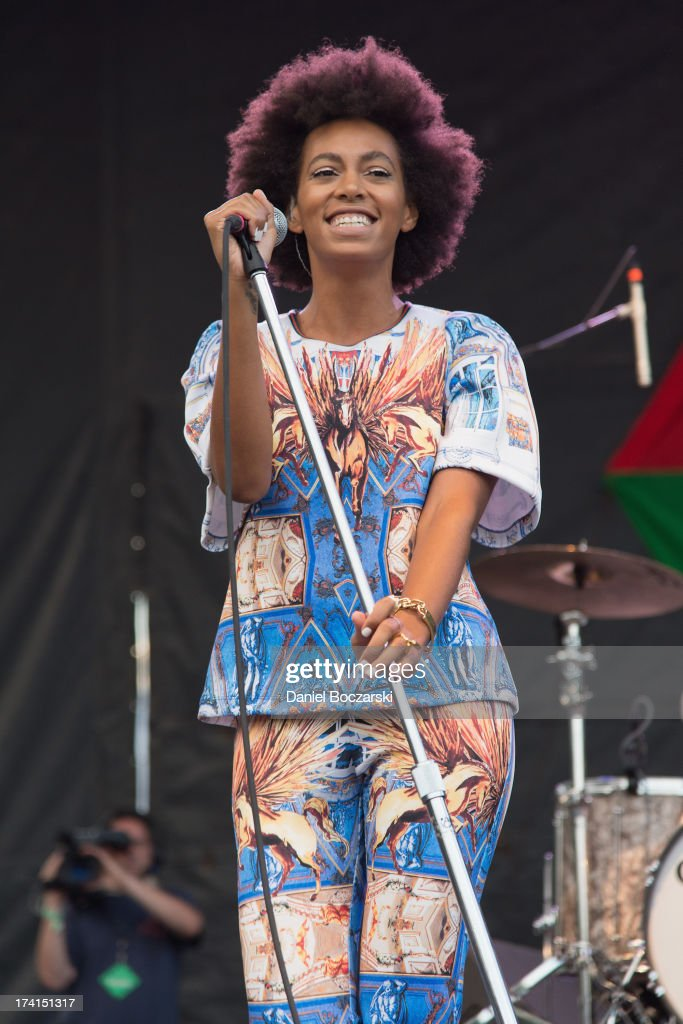 Solange performs on stage on Day 2 of Pitchfork Music Festival 2013 at Union Park on July 20, 2013 in Chicago, Illinois.