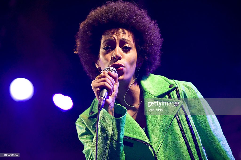 Solange performs on stage on Day 3 of Primavera Sound Festival at Parc del Forum on May 24, 2013 in Barcelona, Spain.