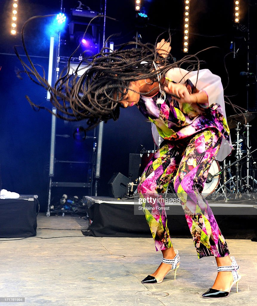 Solange performs on The Park Stage at day 2 of the 2013 Glastonbury Festival at Worthy Farm on June 28, 2013 in Glastonbury, England.