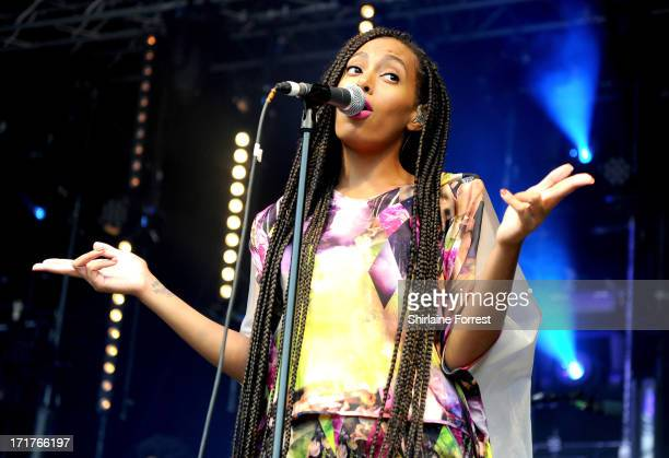 Solange performs on The Park Stage at day 2 of the 2013 Glastonbury Festival at Worthy Farm on June 28 2013 in Glastonbury England