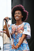 Solange performs onstage during the 2013 Pitchfork Music Festival at Union Park on July 20 2013 in Chicago Illinois