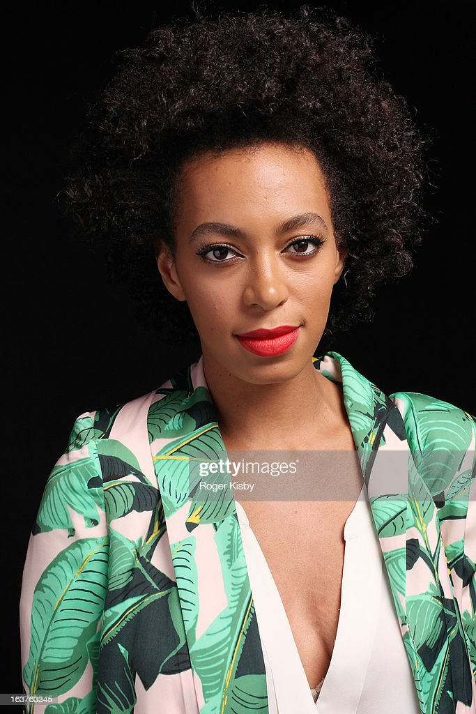 Solange poses for a portrait backstage at Fader Fort presented by Converse during SXSW on March 14, 2013 in Austin, Texas.