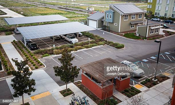solar carport and the Honda Smart Home US at UC Davis West Village Taken March 10 2015