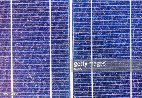 Celle solare : Foto stock
